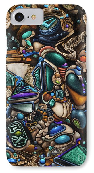 Malleomorphic Minerals In Mounds Of Majestic Muc IPhone Case by Devin Cogger