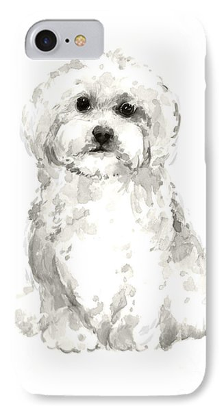 Maltese Abstract Dog Poster IPhone Case