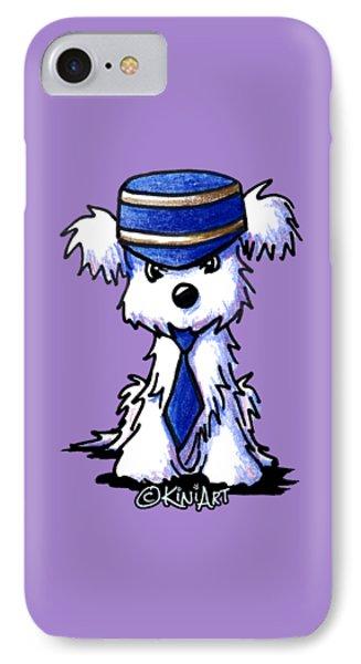Maltese Conductor IPhone Case by Kim Niles