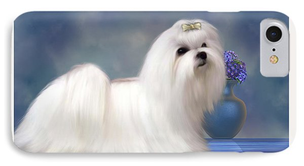 Maltese Dog IPhone Case by Corey Ford