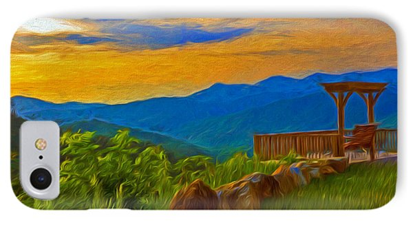 Blue Ridge Sunset From Mama Gertie's Hideaway IPhone Case