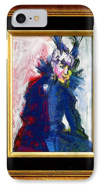 IPhone Case featuring the painting Mamie by Les Leffingwell