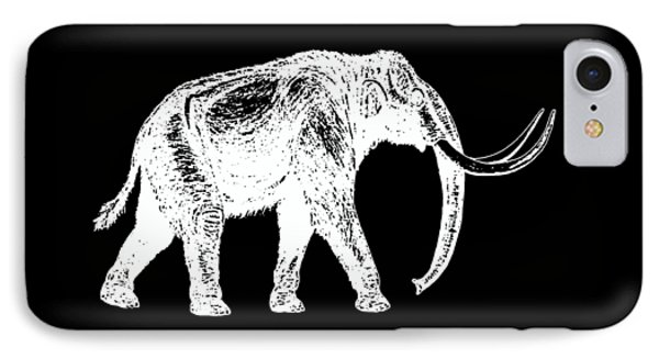 Mammoth White Ink Tee IPhone 7 Case by Edward Fielding