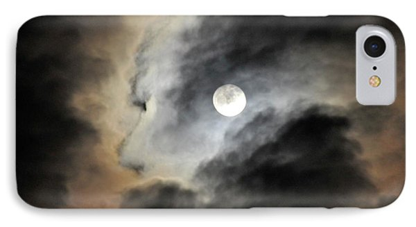 IPhone Case featuring the photograph Man And Moon by Cindy Lee Longhini