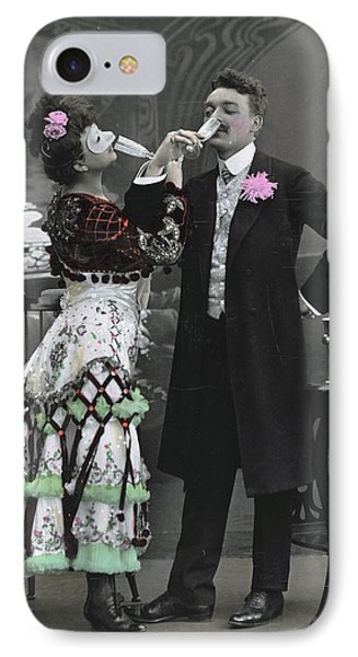 Man And Woman In Vintage Party Clothes IPhone Case