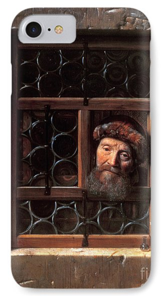 Man At A Window IPhone Case by Samuel van Hoogstraten