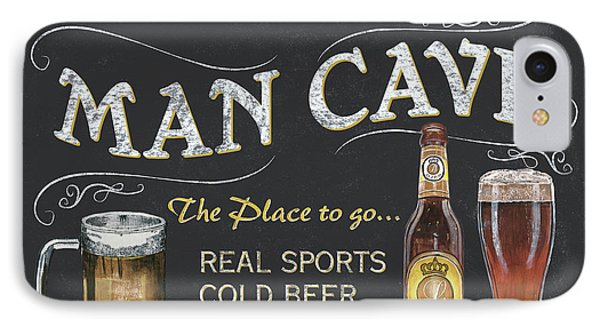 Man Cave Chalkboard Sign IPhone 7 Case by Debbie DeWitt