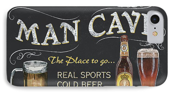Man Cave Chalkboard Sign IPhone 7 Case by Debbie DeWitt