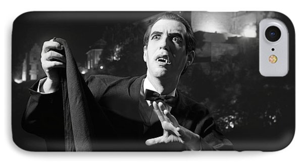 Man Dressed As A Vampire On Halloween IPhone Case by H. Armstrong Roberts/ClassicStock