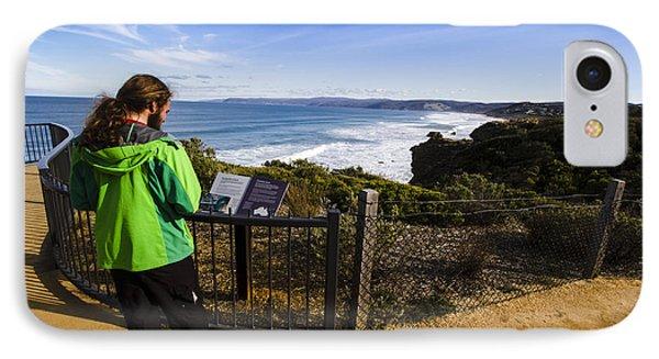 Man Enjoying Scenic View Of Fairhaven Surf Beach IPhone Case
