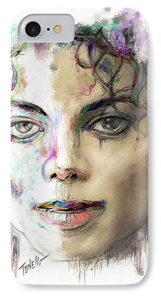 Michael Jackson Man In The Mirror IPhone Case by Mark Tonelli