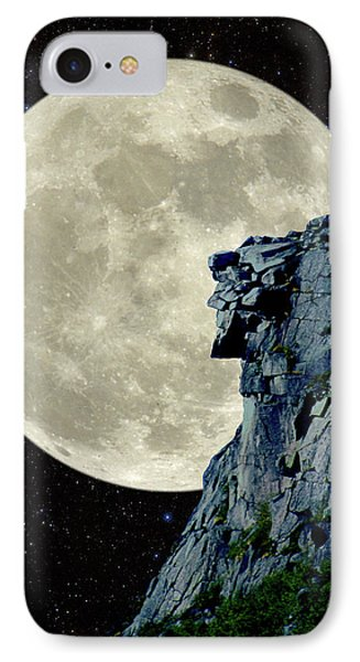 Man In The Moon Meets Old Man Of The Mountain Vertical IPhone Case by Larry Landolfi