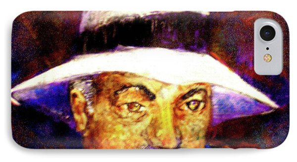 Man In The Panama Hat IPhone Case by Seth Weaver