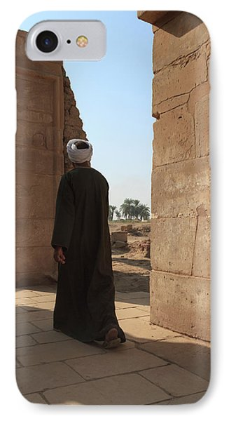 IPhone Case featuring the photograph Man In The Temple by Silvia Bruno