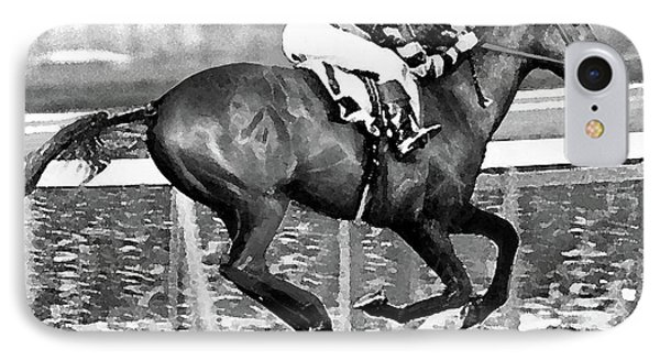 Man O' War Made His Debut At Belmont Park, June 6, 1919 IPhone Case by Thomas Pollart