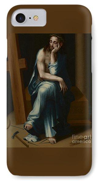Man Of Sorrows IPhone Case by Luis de Morales