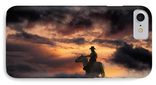 Man On Horseback Phone Case by Ron Sanford and Photo Researchers