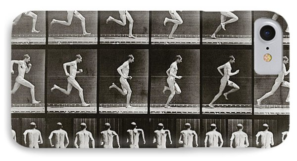 Man Running, Plate 62 From Animal Locomotion, 1887 IPhone Case