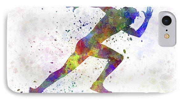 Man Running Sprinting Jogging IPhone Case by Pablo Romero