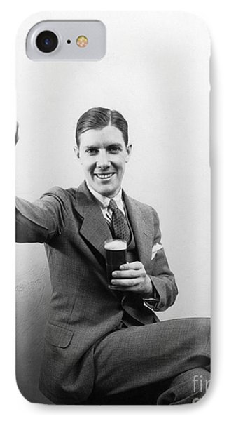 Man With Beer, C.1930s IPhone Case