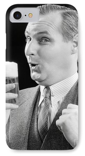 Man With Glass Of Beer, C.1930s IPhone Case