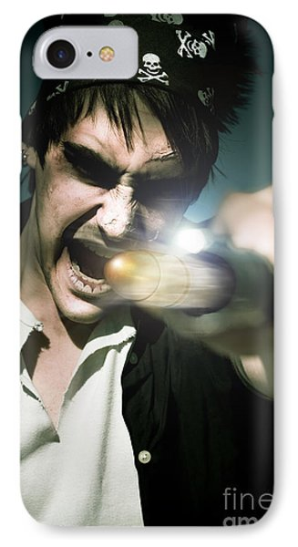 Man With Gun Phone Case by Jorgo Photography - Wall Art Gallery