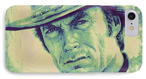 Man With No Name Colour Splash IPhone Case by Andrew Read
