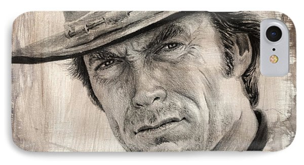 Man With No Name Sepia Splash IPhone Case by Andrew Read