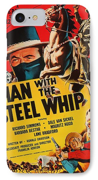 Man With The Steel Whip 1954 IPhone Case by Mountain Dreams