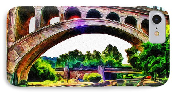 Manayunk Canal And Bridge Phone Case by Bill Cannon