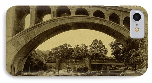 Manayunk Canal In Sepia Phone Case by Bill Cannon