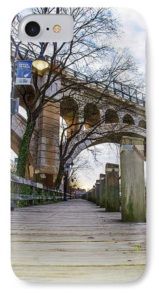 Manayunk - Towpath And Bridge IPhone Case by Bill Cannon