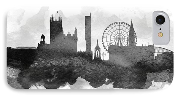 Manchester Cityscape 11 IPhone Case by Aged Pixel