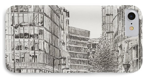 Manchester  Deansgate IPhone Case by Vincent Alexander Booth