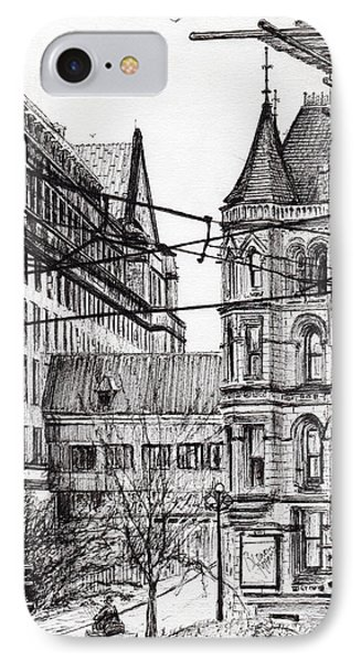 Manchester Town Hall From City Art Gallery IPhone Case by Vincent Alexander Booth