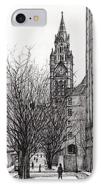 Manchester Town Hall From Deansgate IPhone Case