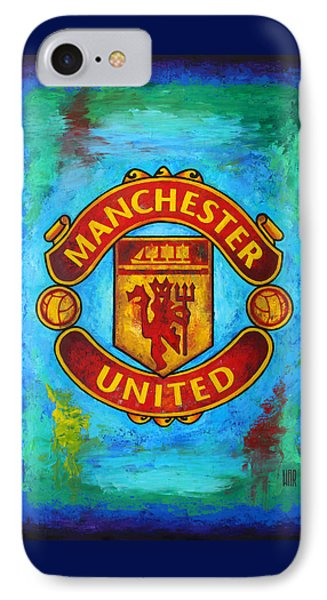 Soccer iPhone 7 Case - Manchester United Vintage by Dan Haraga