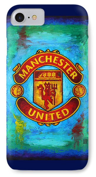 Manchester United Vintage IPhone Case by Dan Haraga