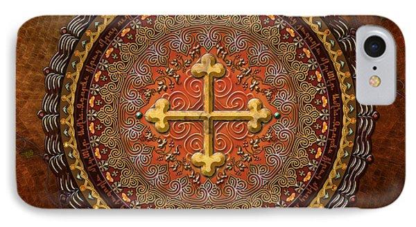 Mandala Armenian Cross Phone Case by Bedros Awak