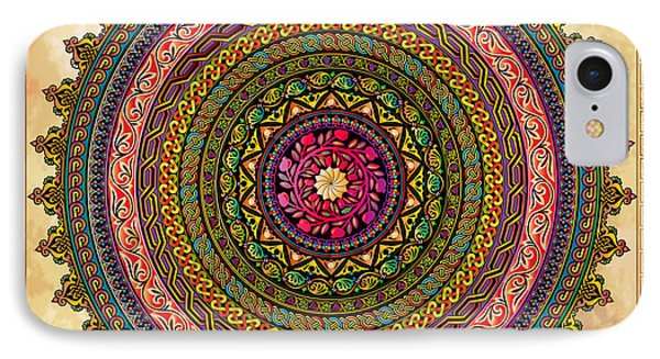 Mandala Armenian Decorative Art IPhone Case by Bedros Awak