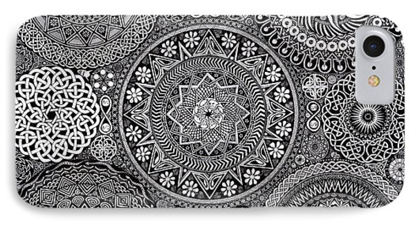 Mandala Bouquet IPhone 7 Case by Matthew Ridgway