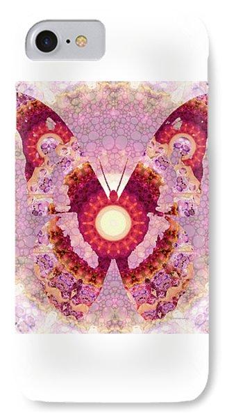 Mandala Butterfly 1 - Art By Sharon Cummings IPhone Case by Sharon Cummings