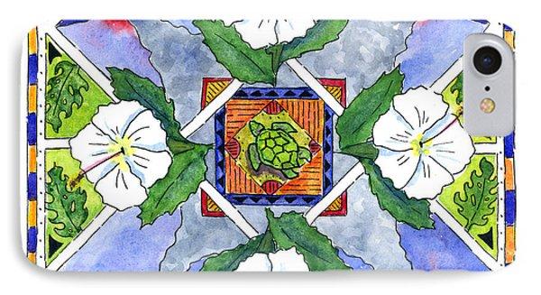 Mandala IIi - White Hibiscus Phone Case by Diane Thornton