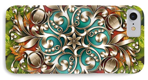 Mandala Metallic Ornament IPhone Case by Bedros Awak