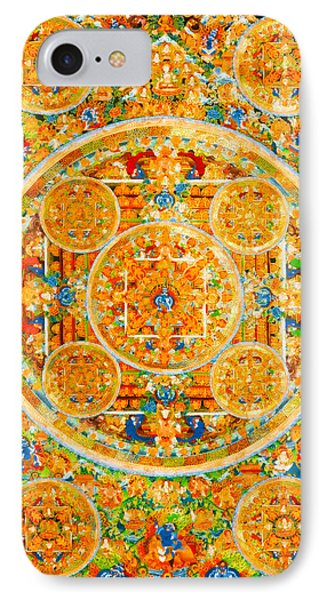 Mandala Of Heruka In Yab Yum And Buddhas 1 IPhone Case by Lanjee Chee