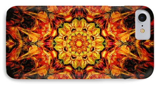 Mandala Of The Sun In A Dark Kingdom IPhone Case by Anton Kalinichev