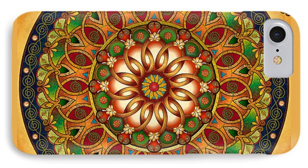 Mandala Rebirth IPhone Case by Bedros Awak