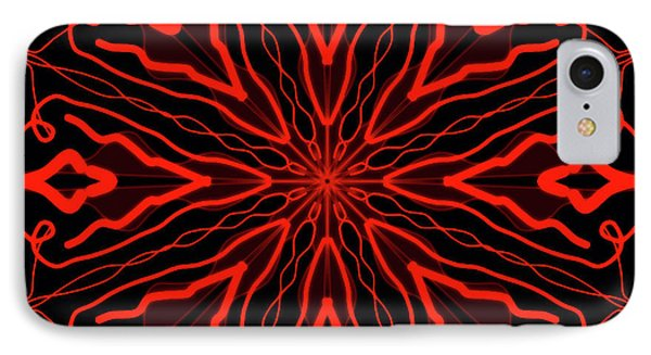 Mandala Red And Black, Fire Mandala IPhone Case by Pablo Franchi
