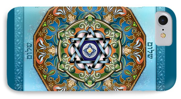 Mandala Shalom IPhone Case by Bedros Awak