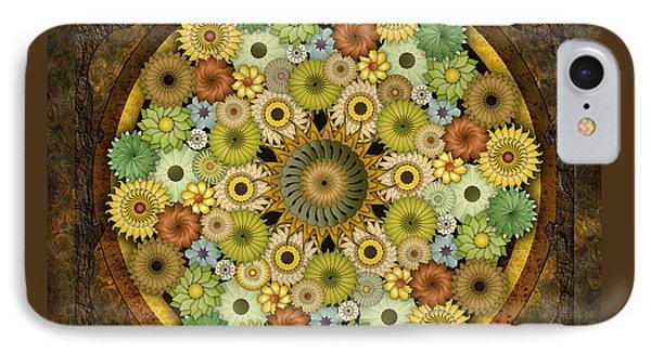 Mandala Stone Flowers Phone Case by Bedros Awak